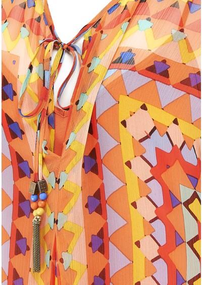 Hale Bob Printed Silk Tunic - Coral main image