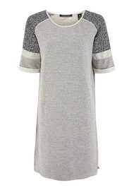 Maison Scotch Baseball Dress - Grey