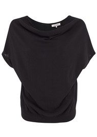 Great Plains Daria Drape Front Top - Black