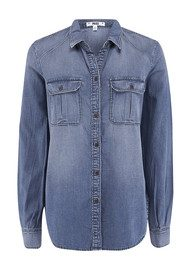 PAIGE DENIM Aria Denim Shirt - Kennedy