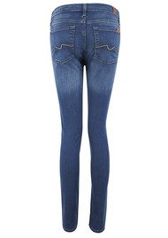 7 For All Mankind High Waist Skinny Jeans - Bright  Blue Oasis