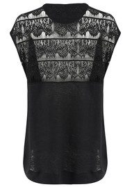 Twisted Muse Valerie Lace Top - Black