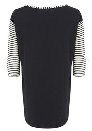 Twisted Muse Jenna Stripe Top - Black & White