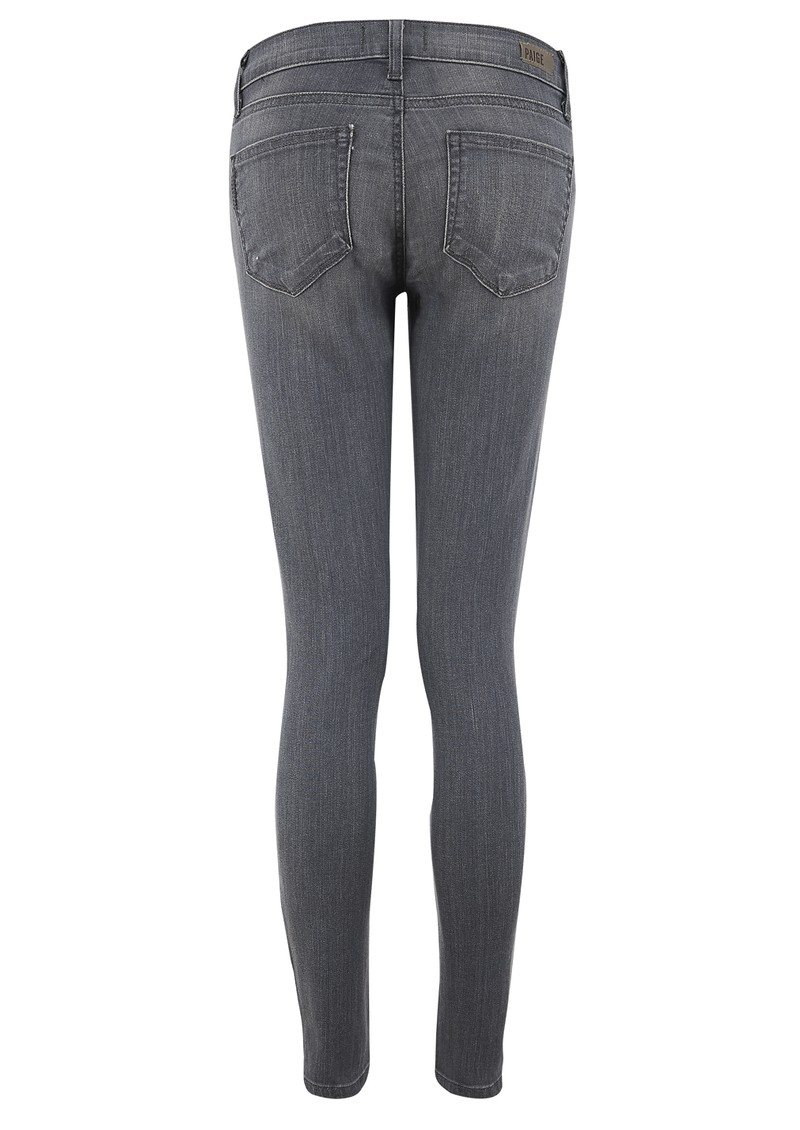PAIGE DENIM Verdugo Ankle Crop Zip Skinny Jeans - Hart main image