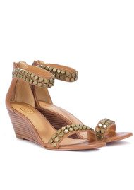 Ash Diamond Wedge Leather Sandal - Nude