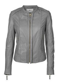 Day Birger et Mikkelsen  Settle Leather Jacket - Grey