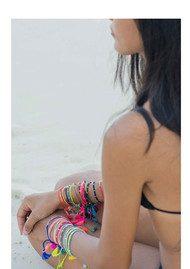 Jiya Jewellery Tahiti Bracelet - Gold & Neon Green