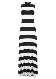 NADIA TARR Two Sided Stripe Gown - Black & White