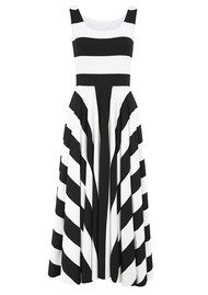 NADIA TARR 3/4 Stripe Dress - Black & White
