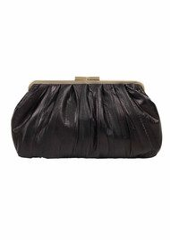 Becksondergaard H Lovely Eel Skin Clutch - Black