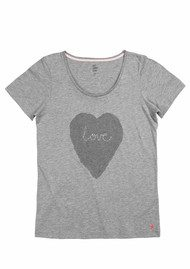 Becksondergaard H I Heart You T Shirt - Grey Melange