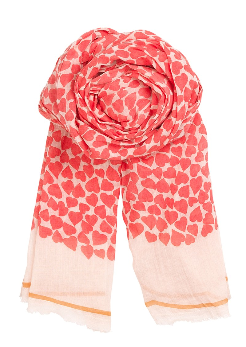 Becksondergaard H Petite Armour Scarf - Electric Coral main image