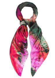 Weston Scarves Quantum Fossil Wood Silk Scarf - Quantum