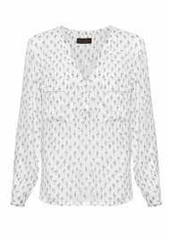 Great Plains Get Knotted Blouse - Cream & Black