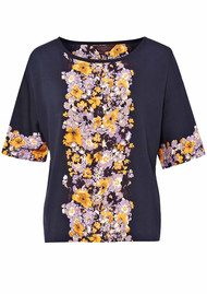 Great Plains Gracie Garland Blouse - Navy