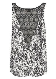 Twist & Tango Denni Printed Tank Top - Black & White