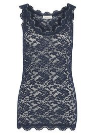 Rosemunde Lace Vest Top - Navy