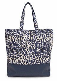 Great Plains Lucky Leopard Animal Print Bag - Navy