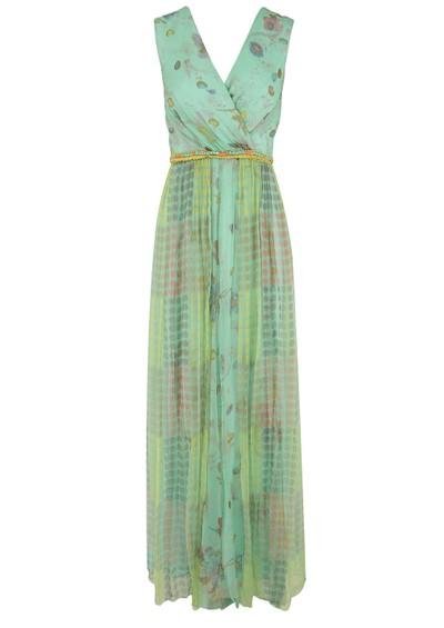 Blank Asreya Maxi Dress - Blue & Green main image