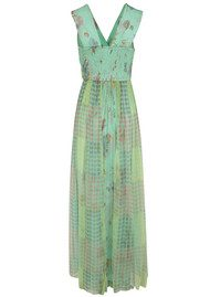 Blank Asreya Maxi Dress - Blue & Green