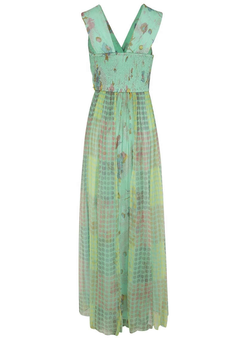 Asreya Maxi Dress - Blue & Green main image