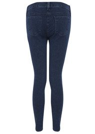 J Brand 8040 Tali Cropped Ankle Skinny Zip Jeans - Blue Depths
