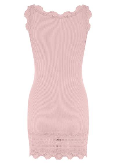 Rosemunde Wide Lace Silk Blend Tank - Strawberry Ice main image