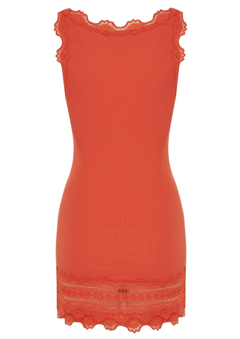 Rosemunde Wide Lace Silk Blend Tank - Bright Sunset main image
