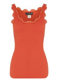 Rosemunde Classic Silk Top - Bright Sunset