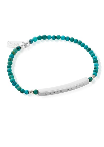 ChloBo Let's Dance Turquoise Bracelet - Silver & Turquoise  main image