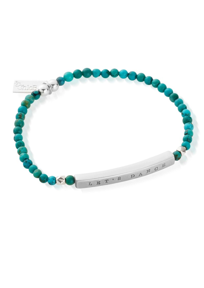 Let's Dance Turquoise Bracelet - Silver & Turquoise  main image