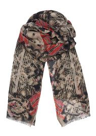 Lily and Lionel Azura Cotton Scarf - Raspberry