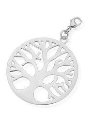 ChloBo Let's Dance Tree Of Live Pendant Charm - Silver