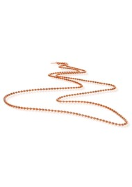 ChloBo Let's Dance Ball Chain L2 Necklace - Rose Gold