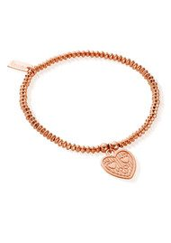 ChloBo Let's Dance Mise Tri Heart Bracelet - Rose Gold