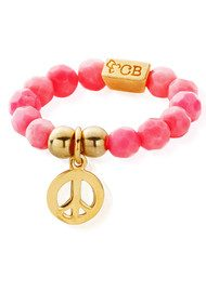 ChloBo Let's Dance Pink Coral Ring Didi Peace - Gold