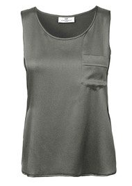 Day Birger et Mikkelsen  Essential Silk Mix Vest - Brushed Nickel
