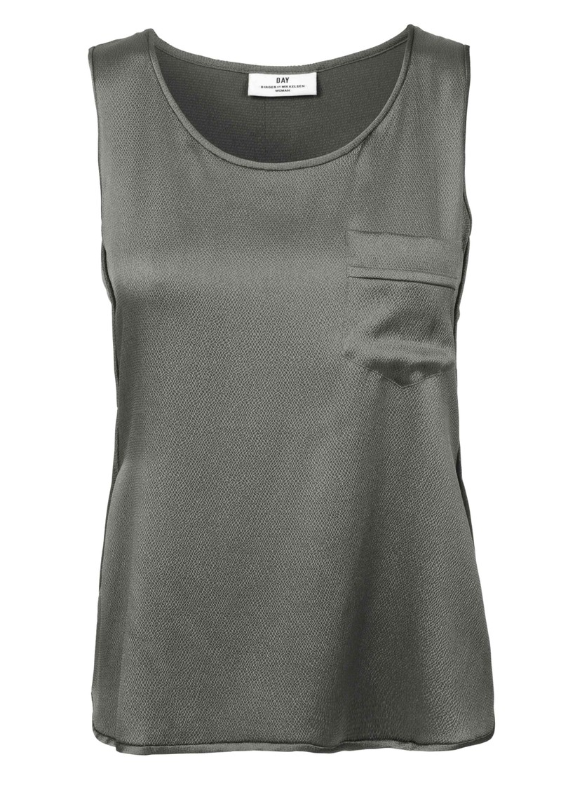Essential Silk Mix Vest - Brushed Nickel main image