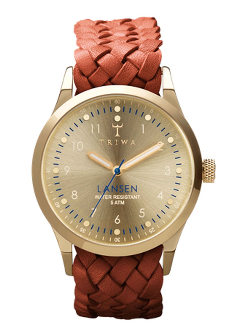 Gold Lansen Watch - Gold & Brown main image