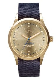 Triwa Gold Lansen Watch - Gold & Navy Blue