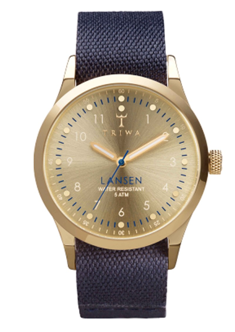 Gold Lansen Watch - Gold & Navy Blue main image