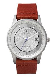 Triwa Stirling Niben Watch - Sliver & Brown