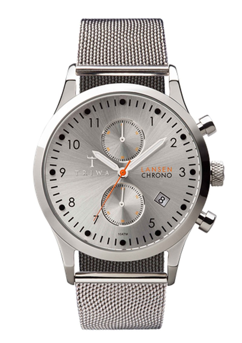 Triwa Stirling Lansen Chronograph Watch - Steel main image
