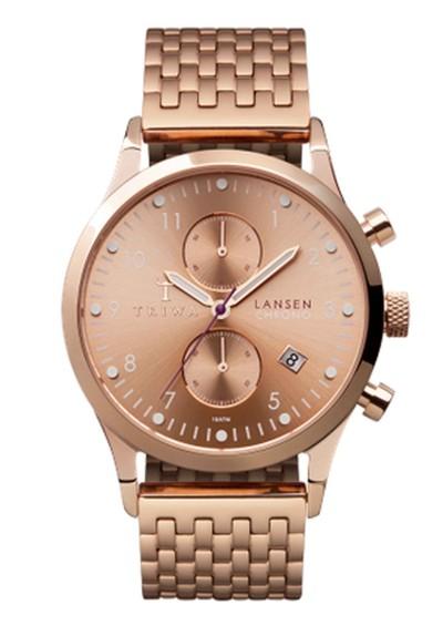 Triwa Rose Lansen Chronograph Watch - Rose Gold main image