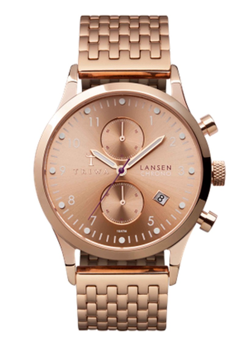 Triwa Rose Lansen Chronograph Watch - Rose Gold main image