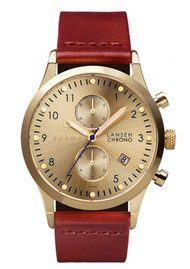 Triwa Gold Lansen Chronograph Watch - Gold & Brown