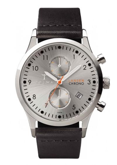 Triwa Stirling Lansen Chronograph Watch - Silver & Black main image