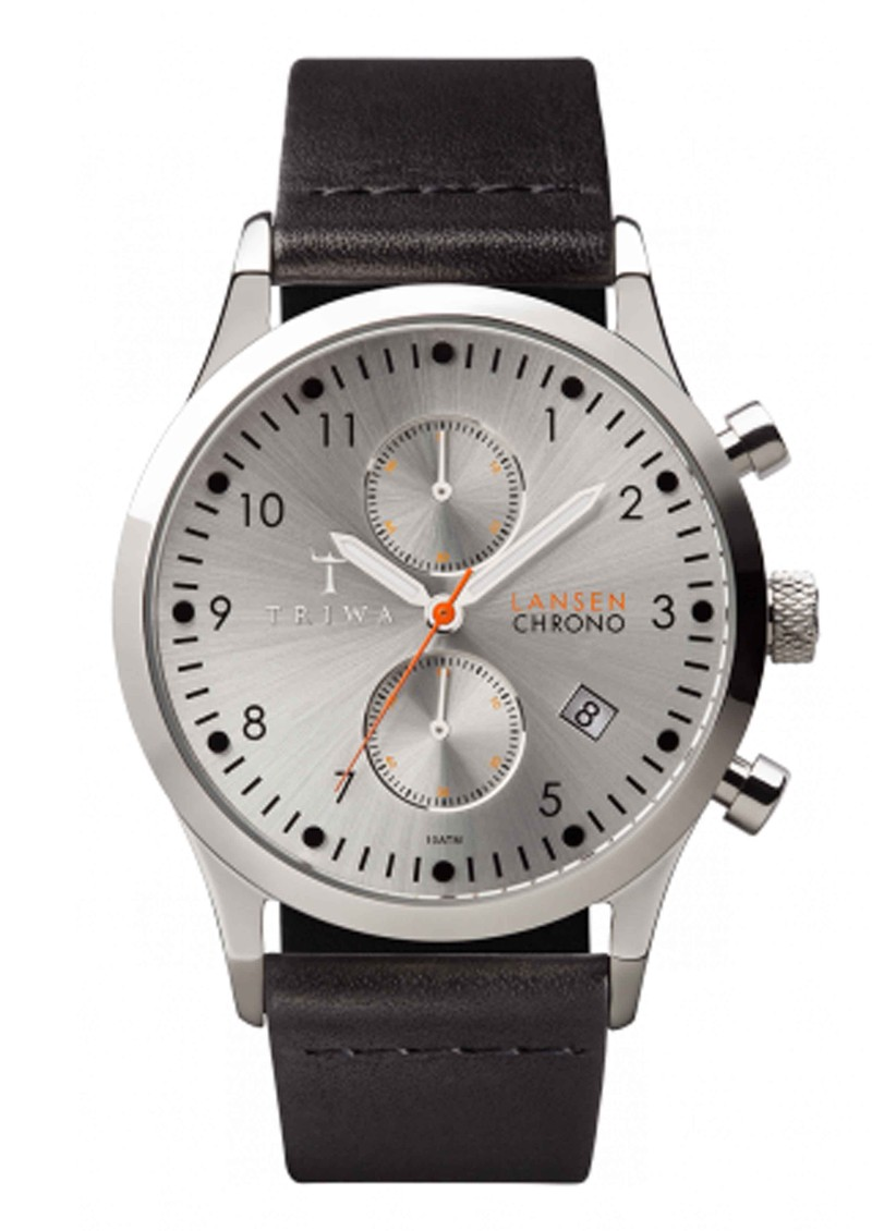 Triwa Stirling Lansen Chronograph Watch - Silver & Black main image