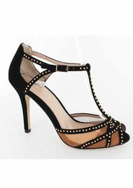 Lola Cruz Mui Mui Stiletto Heels - Black