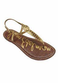 Sam Edelman Gigi Boa Snake Sandal - Gold